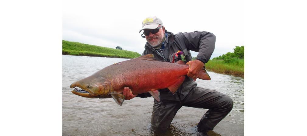 La rivière grand pit de la pêche