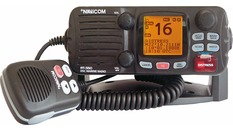 VHF fixe 55 canaux,ASN,classe D,25W-Boîtier noir-Grand afficheur LCD