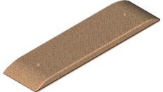 Plaque de masse type I dim : 198 x 64, entraxe 103 mm,  13 (049)