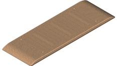 Plaque de masse type III, Dim : 455 x 152, entraxe 255 (070)