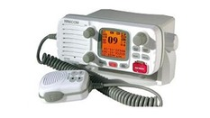 VHF fixe 55 canaux,ASN,classe D,25W-Boîtier blanc-Grand afficheu