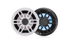 """HP 6.5"""" Série XS - 200 watts, 2 voies - Gris et Blanc avec LED"""