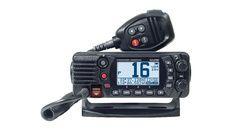 VHF fixe compacte 25W classe D IPX8 noire avec antenne GPS interne