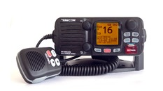 VHF fixe 55 canaux, récepteur AIS intégré, classe D,25W-Boîtier noir