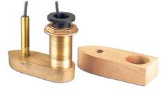 Sonde traversante bronze 50/200 KHz spéciale gDes profondeurs