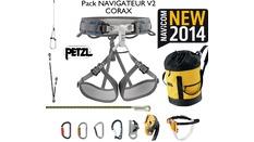 Pack ascension navigateur : baudrier CORAX + accessoires