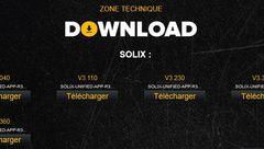 Mise à jour Solix avec nouvelle interface