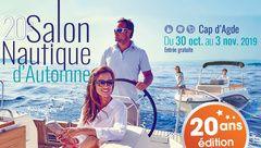 Salon Nautique d'Automne au Cap d'Agde  du 30 Oct au 3 Nov.