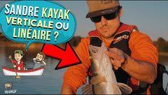 Pêche du sandre : Verticale ou Linéaire ? en KAYAK