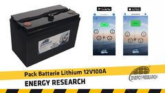 Pack Lithium 12v 100A Energy Research